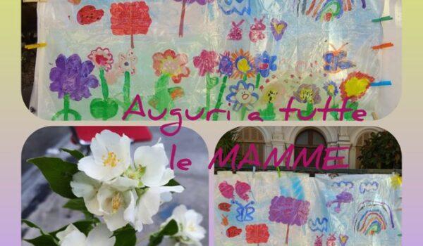 cartellone dipinto per la festa della mamma